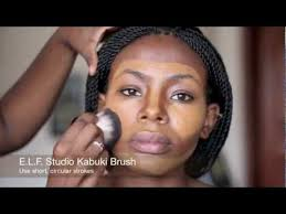 contouring highlighting and foundation chocolate brown skin
