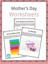Mother's Day Facts, Worksheets & Time Of Year For Kids