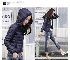 whole womens lady duck down ultralight hooded puffer jacket coat outdoor packable coat jacket coats equipment jacket coat men with 48 87 piece