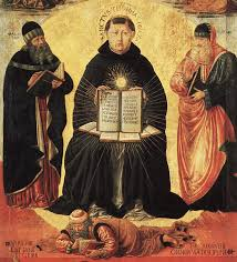 summa theologica detail from triumph of st thomas aquinas over averroes by benozzo gozzoli