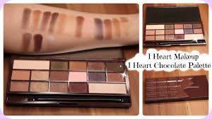 i heart makeup i heart chocolate palette review live swatches too faced chocolate bar dupe you