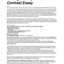 writing comparative essay resume cv cover letter slide college comparison contrast essay example paper compare and contrast essay sample paper compare best photos of