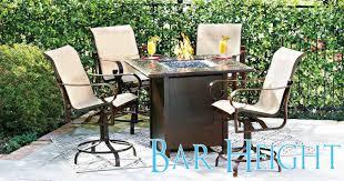 elegant patio furniture. Brilliant High Patio Furniture Elegant Dining Set Cool Bar Height Outdoor I