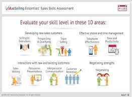 Valueselling Essentials Sales Skills Assessment Miyens