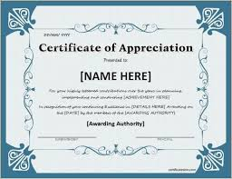 certificate of recognition templates certificate of appreciation templates employee recognition