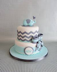 Baby Blue Elephant Cake Perfect For A Baby Shower Or 1st Birthday