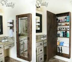 wall mirror with storage how to bathroom wall mirror storage case tutorial wall mounted full length wall mirror with storage