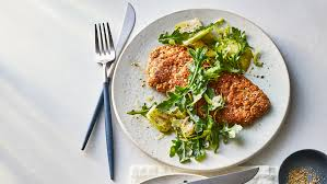 Use skinless, boneless chicken breasts, and assume 4 to 6 ounces per serving. Crunchy Baked Chicken With Ham And Swiss Recipe Real Simple