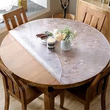 discoverdecor lovepads multi size custom round 2mm thick cosmos pvc table protector cover tablecloth 42 inches