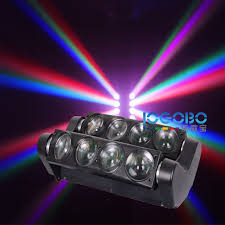 pack of 4 new 8x10w white rgbw 4in1 led spider beam light home entertainment center