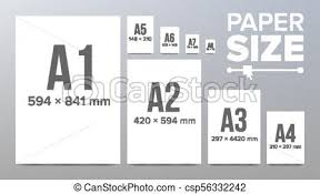 A4 Paper Size Paper Sizes Vector Paper Size Standards Isolated Illustration
