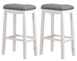 white saddle stool. Modren White Amazoncom Angel Line Cambridge Padded Saddle Stool White With Gray  Cushion 29 On Stool H
