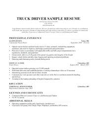 Resume For Bus Driver Template Truck Driver Resume Sample Resume