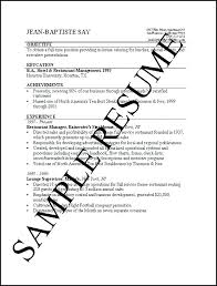 Simple Student Job Resume Examples Objectives For Resumes Career ...