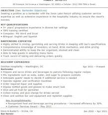 Bartender Resume Sample Adorable Resume And Cover Letter Bartender Resume Templates Sample Resume