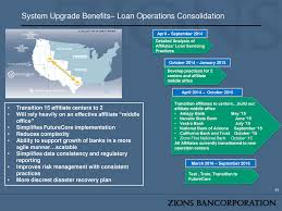 system upgrade benefits loan operations consolidation 33 transition 15 affiliate centers to 2 will rely heavily on an effective affiliate middle buy matrix mid office