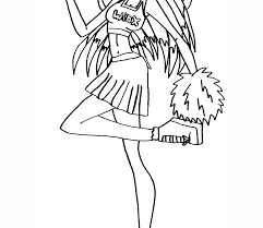 Cheerleader Coloring Pages Neuhneme