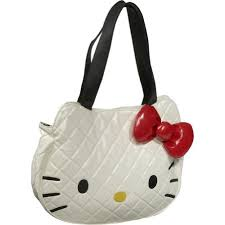 Hello Kitty Bag- White Quilted Face Tote Bag | Products I Love ... & Hello Kitty Bag- White Quilted Face Tote Bag Adamdwight.com