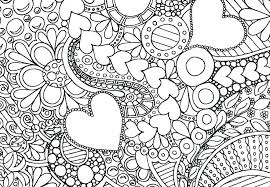 Coloring Pages Flowers And Hearts Adult Coloring Pages Flowers And