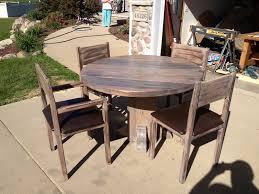 smooth dark wooden pallet table