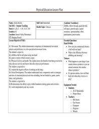 Pe Lesson Plan Free 10 Physical Education Lesson Plan Examples And