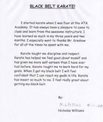 started karate at years old ata karate for kids black belt essay