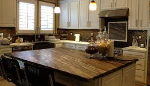 brown tone stone countertop