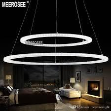 modern led ring chandelier light fixture led circle suspension light high quality white acrylic chandeliers lighting md5000 series chandelier light