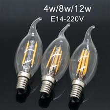 e14 chandelier bulb clear led filament lamp equivalent halogen light bulb candelabra base degree beam angle