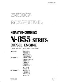 komatsu cummins n 855 series diesel engine shop manual pdf repair repair manual komatsu cummins n 855 series diesel engine shop manual pdf