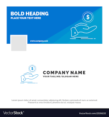 Cash In And Out Template Blue Business Logo Template For Help Cash Out Vector Image