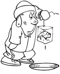 Small Picture Ice Fishing Fisherman Coloring Page Coloring Sky