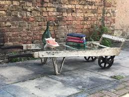 antique railway porters trolley coffee