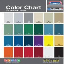 Locker Manufacturer Color Charts