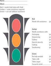 Traffic Light Food Chart Meeting The Nutritional Needs Of Patients With Dementia In