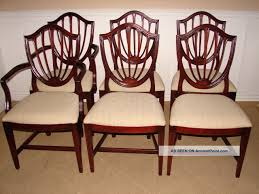 ethan allen vine gany shield back dining room chairs georgian court
