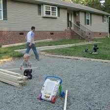 mommyhood our diy home project gravel drivewayconcrete pad how to build a gravel driveway epic