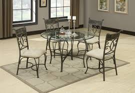 metal dining room furniture. round glass dining table and side chair with metal base in room furniture m