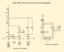 star delta starter control power circuit diagram