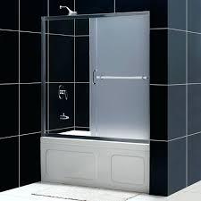 sliding shower doors for bathtubs infinity plus sliding tub door frosted glass frameless sliding shower doors