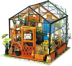 Robotime DIY Dollhouse Wooden Miniature Furniture ... - Amazon.com