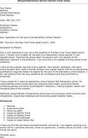 Primary Teacher Cover Letter Elementary School Template Teacher Cover Letters Teacher