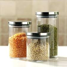 glass kitchen canisters bathroom