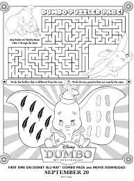 Small Picture Printable Dumbo Maze Printables for Kids free word search