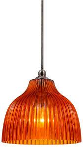 prismatic amber glass mini pendant light