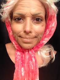 old woman makeup