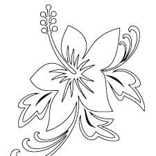 Tropical Flower Coloring Pages Printable