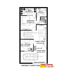 house plan for 20 feet by 45 feet plot luxury 20 x 40 house plans east