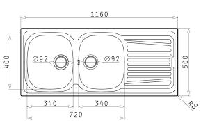 small double kitchen sink dimensions size measurements standard bathroom bowl