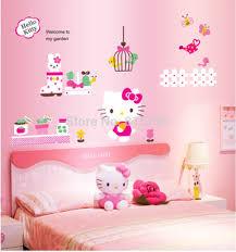 jual stiker tembok hello kitty: Jual wallsticker stiker dinding 60x90 jumbo hello kitty kartun